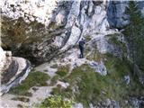 Monte Pisimonipod navpičnimi in previsnimi stenami je lepa stezica