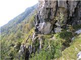 Monte Pisimoniv bližini kote 1609, tudi najtežje mesto grebenskega prečenja