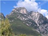 Monte Pisimonipogled na južni del gore iz doline