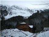 Slovenske planine v vseh letnih časihPogled od kmetije Matizovec na greben Košuto-Veliki vrh.