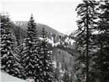 Slovenske planine v vseh letnih časihŽe od daleč vidimo planino Šijo z kočo.