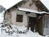 Slovenske planine v vseh letnih časihPrvi stan na planini Ilovica.