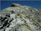 Prečenje Via de la Vita - Vevnica - Strug - Ponceproti vrhu Vevnice