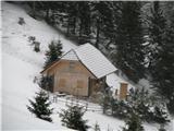 Slovenske planine v vseh letnih časihTo pa je tretja zgradba na planini.
