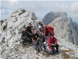 Prečenje Via de la Vita - Vevnica - Strug - Poncenaša skupinica na Vevnici
