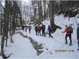 Bogatin in KomnaPot shojena, sneg se začne le v dolini