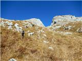 Briceljkznačilen pogled na strm vzpon proti dolinici zahodno od Stadorja