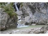 Slovenski slapovi vodotokov Smo pred slapom, vendar ga še ne vidimo. potrebno je malo poplezati,kar ta čas ravno ni najbolj prijetno, ker drsi.