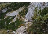 Kalški grebenSpust na planino Dolge njive.