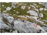 Kalški grebenOznaka vrha -to marsikje vidimo po vrhovih.