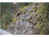 Slovenski slapovi vodotokov Voda polzi po mahu , po skalah -lepo.