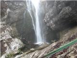 Slovenski slapovi vodotokov Na koncu doline Voje si lahko ogledamo slap Mostnice.