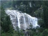 Slovenski slapovi vodotokov Dvakrat sem bil to sezono na Visokih Turah-to sta bila najlepša slapov na tritisočaka Scharech in Baumbachspitze.
