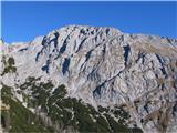 Creta di Rio Secco (2203)na drugi strani uzrem Monte Cavallo - Konjski špik