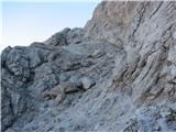 Creton di Tul (2287) in Creta Forata (2462)v zgornjem delu je za spoznanje težje