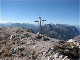 Creton di Tul (2287) in Creta Forata (2462)vrh Crete Forate