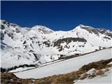 Romatenspitze, 2696 mPogled s poti na škrbino Feldseescharte...levo Feldseekopf, desno Vorderer Geißlkopf