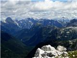 Žrd (2324m)Naši velikani visoko pod oblaki...od Mangarta, prek Jalovca, vse do Triglava...