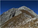 Bovški GamsovecSestop proti Luknji...pogled nazaj proti vrhu