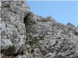 Kalški grebennašel sem staro plezalno pot