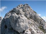 Jalovecpo grebenu je bilo večinoma kopno