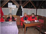 Polhograjska GrmadaMarljive članice društva vpisujejo pohodnike