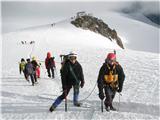 Mont Blanc / Monte BiancoMiha in pa Roman, zadaj bivak