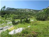 Planina Za Skalo in Kaluderpobočje pod Kaludrom