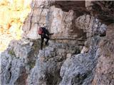Monte Pelmo (3168)eni lažje, drugi težje prehodni prehodi