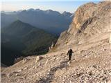 Monte Pelmo (3168)in na melišču
