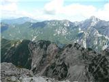 Krnička gora iz Matkove Krnicenad njo pa od Strelovca preko Ut in Krofičke do Ojstrice