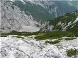 Krnička gora iz Matkove KrnicePo krušljivem svetu, ki se dviga nad njenim zatrepom, splezam na vrh