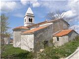Od Socerba do AnkaranaCerkev svetega Mihaela na Tinjanu.