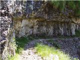 Žrd (2324m)Spust po zavarovani poti v Reklansko dolino.