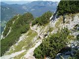 RaduhaNa plezalni poti proti Grohatu.