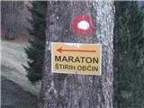Gorski maraton 4 občinNad Petrovim Brdom.