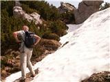 DobračProti vrhu grebena