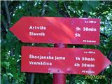 Od Socerba do Ankaranasmerne table v dolini potoka Sušica