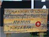 Od Socerba do Ankaranakonec poti po transfenzali, žig v baru