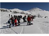 Mali in Veliki SnežnikVeliko pohodnikov