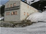 Ojstricavhod v kočo bo še nekaj časa pod snegom