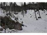 Uršlja Gora (Plešivec) 1699mEden izmed plazov ob poti