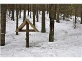 Uršlja Gora (Plešivec) 1699mRazpelo ob poti v visokem snegu