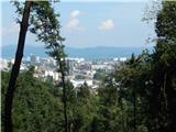 Ljubljana (Koseze) - Cankarjev vrh (Rožnik)