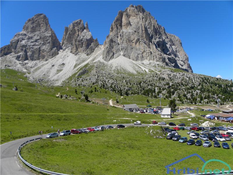 Passo Sella Rifugio Back Passo Sella Rifugio