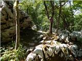 18. serpentina ceste na Strmo Reber - loska_stena