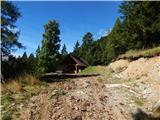 Lovska koča nad Doslovško planino