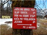 Ukanc - Koča pri Savici