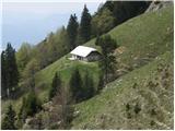 Krničarjeva koča na planini Javornik