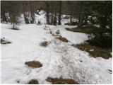 Bistriška planina - Šentanski vrh